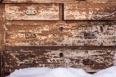 Caixa de gavetas, cômoda, armário Fotografia de Stock