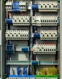 Caixa de interruptor elétrica imagens de stock
