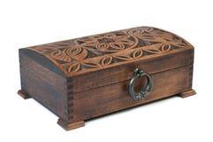 Caixa de jóia de madeira fechado Foto de Stock Royalty Free