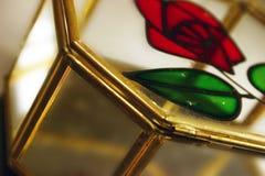 Caixa de jóia de Rosa Fotos de Stock Royalty Free
