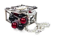 Caixa de jóia de vidro Fotos de Stock Royalty Free