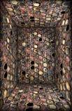 Caixa de jóia de vidro de Grunge, interior Imagens de Stock