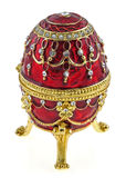 Caixa de jóia do ovo de Faberge Fotografia de Stock