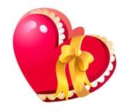 Caixa de jóia fechada Heart-shaped ilustração royalty free