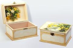 Caixa de jóia Handmade Imagens de Stock Royalty Free