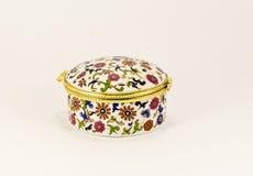 Caixa de jóia redonda Imagem de Stock Royalty Free