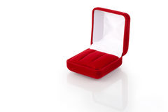 Caixa de jóia vermelha 3 Fotos de Stock Royalty Free