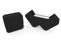 Caixa de joia na rendição branca do fundo 3D Imagens de Stock