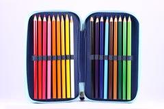 Caixa de lápis Fotos de Stock