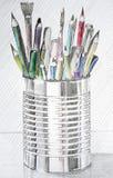 Caixa de lápis Fotografia de Stock