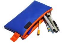 Caixa de lápis isolada no fundo branco Imagem de Stock