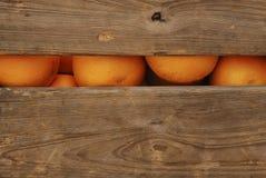 Caixa de laranjas Foto de Stock