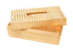 Caixa de lenço de papel feita pelo vime de bambu Fotos de Stock