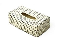 Caixa de lenço de papel feita pelo vime de bambu Foto de Stock Royalty Free