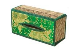 Caixa de lenço de papel feita pelo vime de bambu Fotografia de Stock