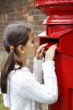 Caixa de letra vermelha Fotos de Stock Royalty Free