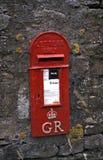 Caixa de letra vermelha inglesa Imagem de Stock Royalty Free
