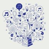 Caixa de música Foto de Stock