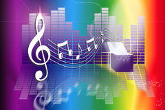 Caixa de música do arco-íris Foto de Stock