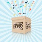 Caixa de música do cartão Fotos de Stock