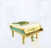 Caixa de música do piano fotografia de stock royalty free