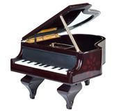 Caixa de música do piano Imagens de Stock Royalty Free