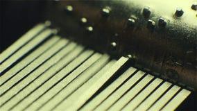 Caixa de música, um manual pequeno Feche acima do rolo