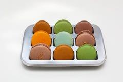 Caixa de Macarons Foto de Stock