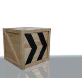 Caixa de madeira Imagens de Stock Royalty Free