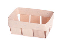 Caixa de madeira alta natural Imagem de Stock Royalty Free