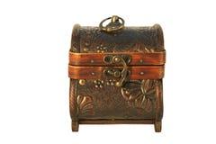 caixa de madeira antiga   Foto de Stock Royalty Free