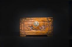 Caixa de madeira chinesa Fotografia de Stock Royalty Free