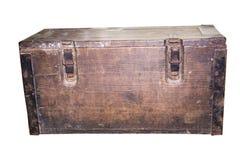 caixa de madeira com dois fechamentos Imagens de Stock