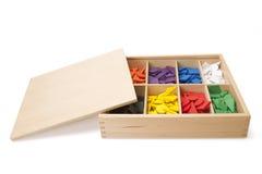 Caixa de madeira com forma Fotografia de Stock Royalty Free