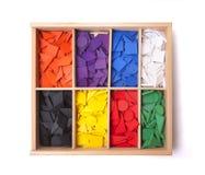 Caixa de madeira com forma Fotos de Stock Royalty Free