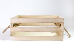 Caixa de madeira com punho da corda Imagem de Stock