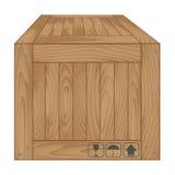 Caixa de madeira de Brown em white1 Fotos de Stock Royalty Free
