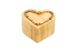 Caixa de madeira do coração Imagem de Stock Royalty Free