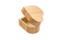 Caixa de madeira do coração Imagens de Stock Royalty Free