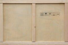 Caixa de madeira do transporte. Fotografia de Stock