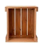 Caixa de madeira em aberto Imagem de Stock Royalty Free