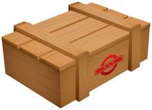 Caixa de madeira isolada Foto de Stock Royalty Free