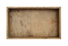 Caixa de madeira isolada Imagem de Stock