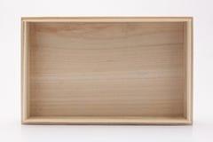 Caixa de madeira isolada Fotos de Stock