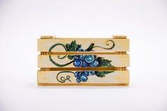 Caixa de madeira isolada handmade Imagem de Stock Royalty Free