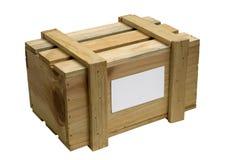 Caixa de madeira isolada no branco Fotografia de Stock Royalty Free