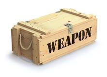 Caixa de madeira militar ilustração do vetor