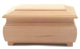 Caixa de madeira no branco separadamente Imagens de Stock