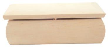 Caixa de madeira no branco separadamente Imagens de Stock Royalty Free