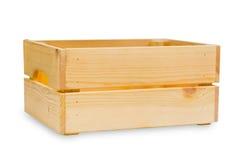 Caixa de madeira ou boa bandeja de madeira de madeira do transporte de carga fotos de stock